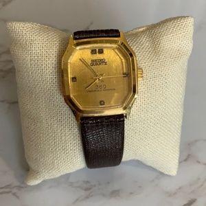 Vintage 14k Gold Seiko Quartz Watch